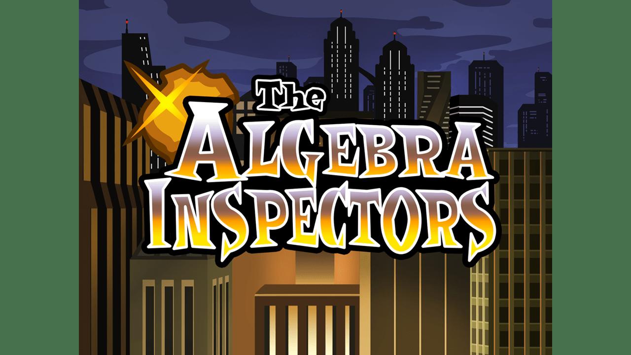 screenshot The Algebra Inspectors education game main title
