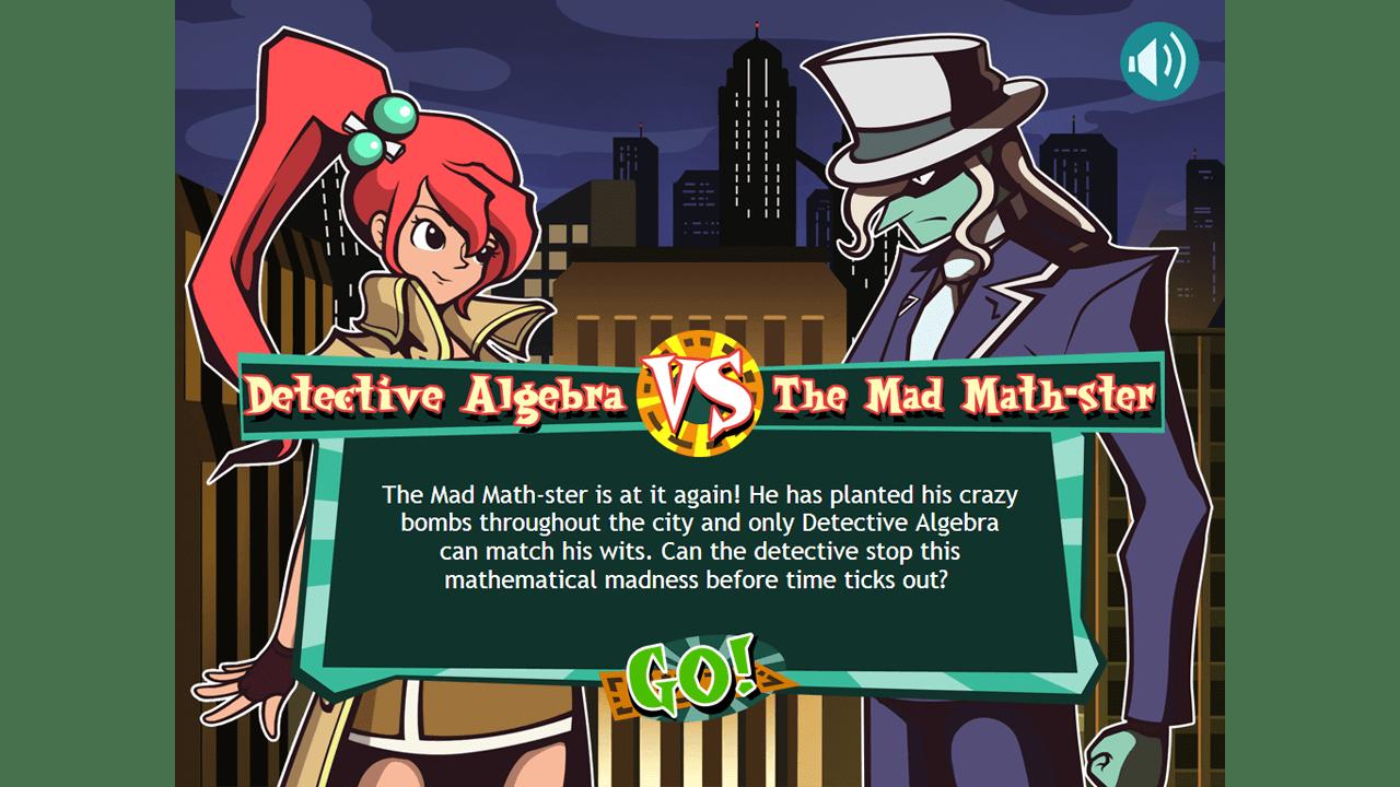 screenshot The Algebra Inspectors education game story summary