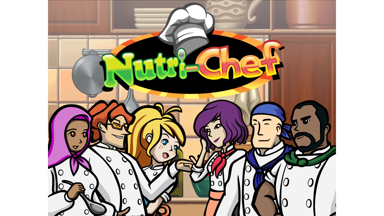 screenshot Nutri Chef education game main title