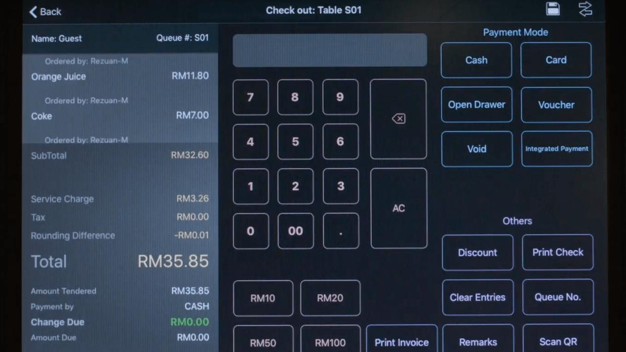screenshot Marco P O S using O R C A