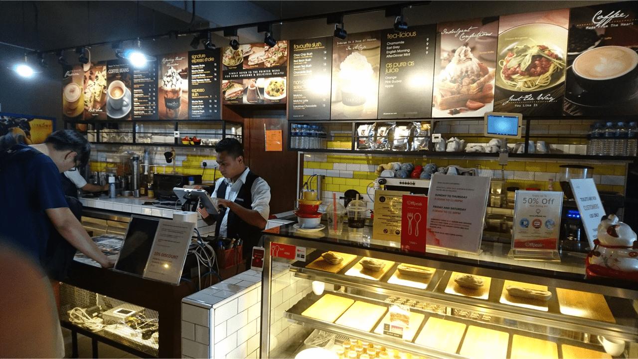 screenshot The Library Coffee Bar using O R C A
