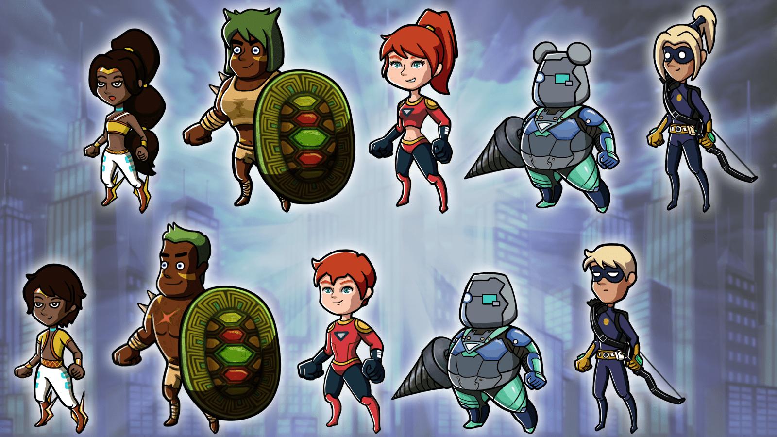 Hero Characters Art
