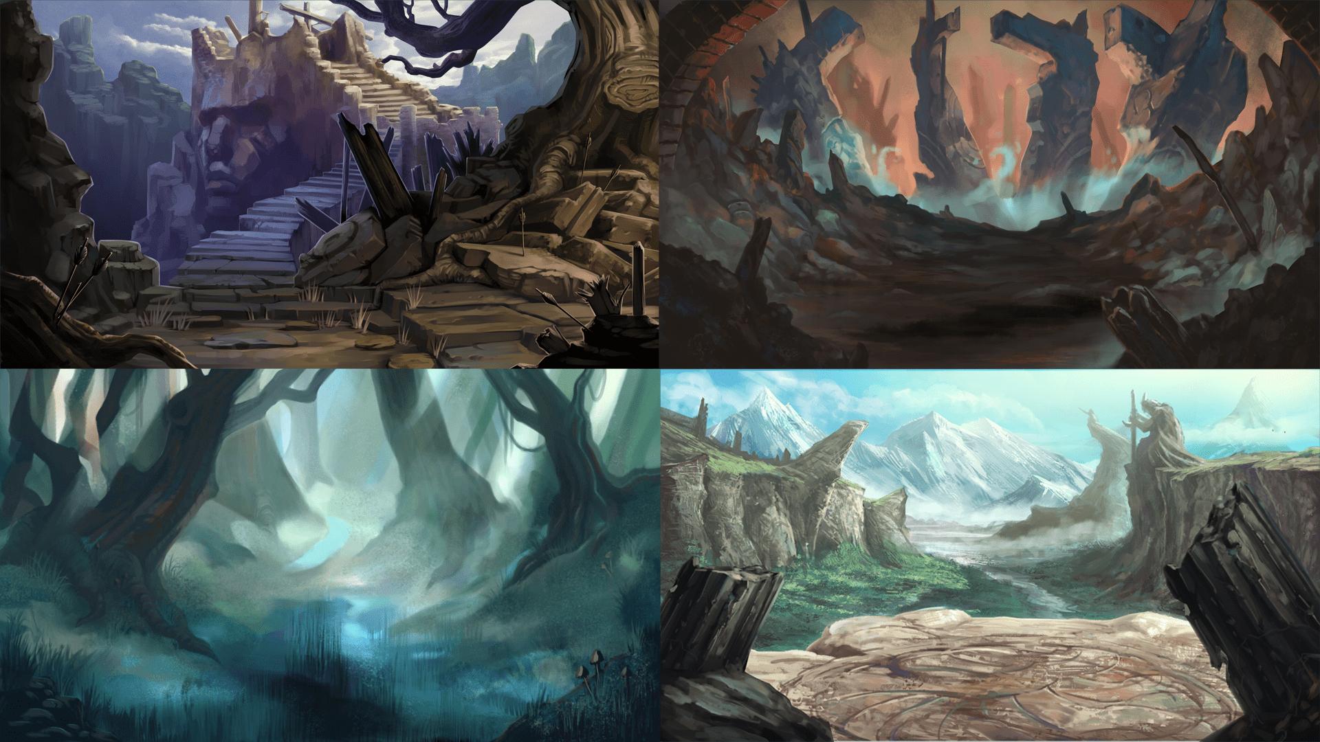Camelot Legends Environments Art