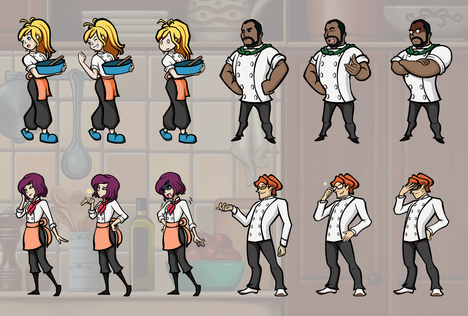 Nutri-Chef Characters Art