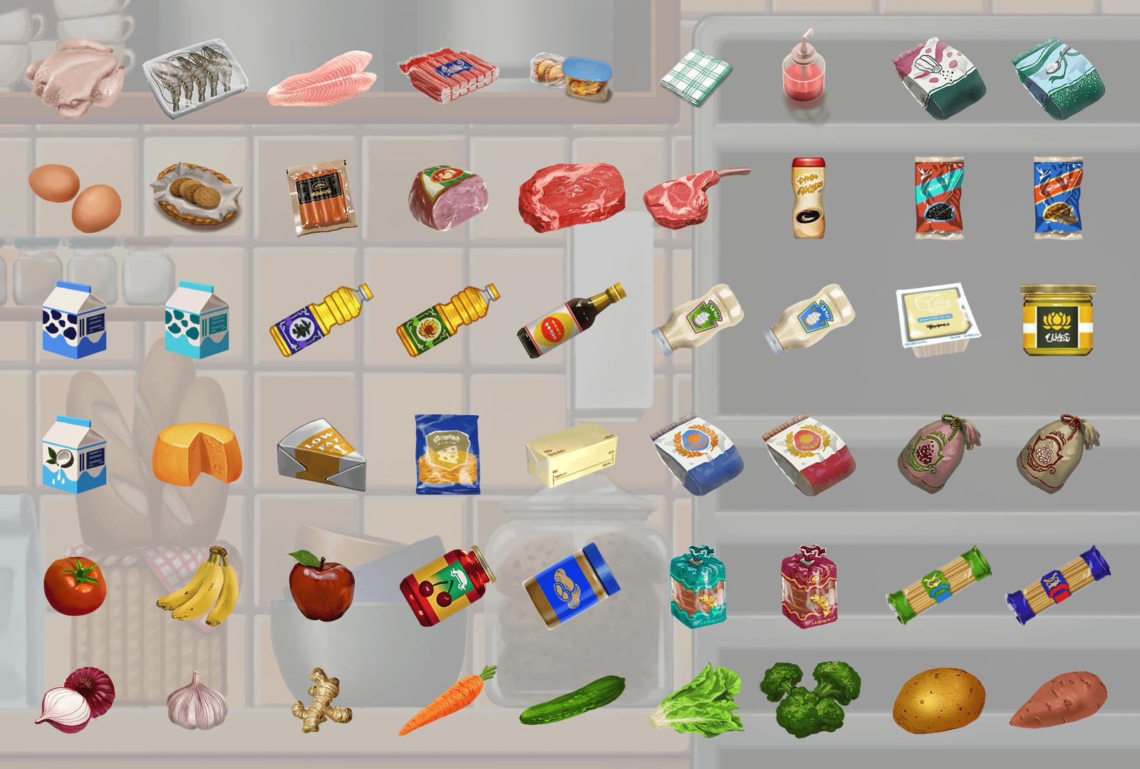 Nutri-Chef Ingredients Art