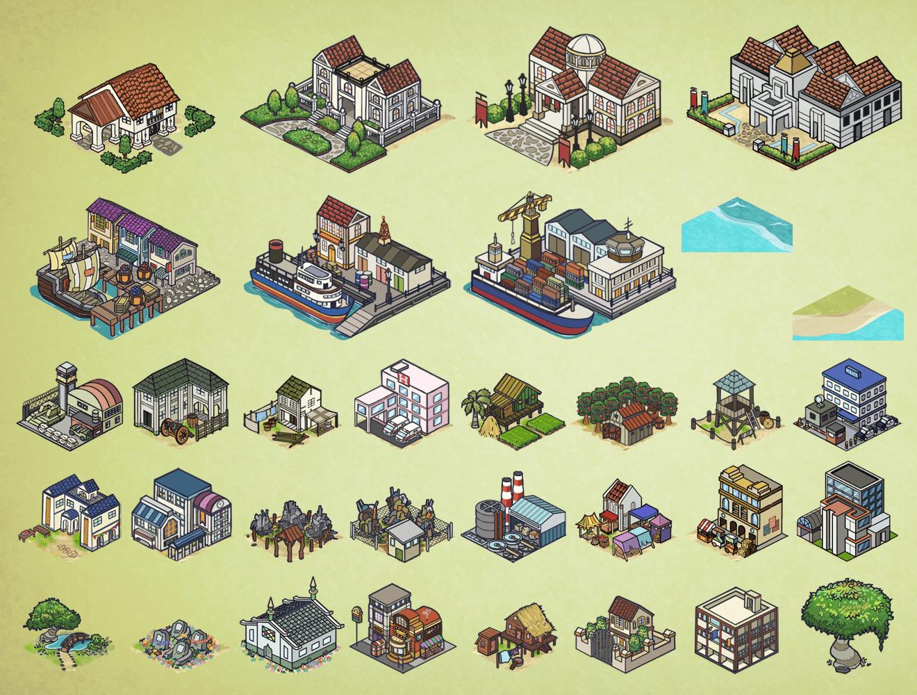 Saga City Buildings Art