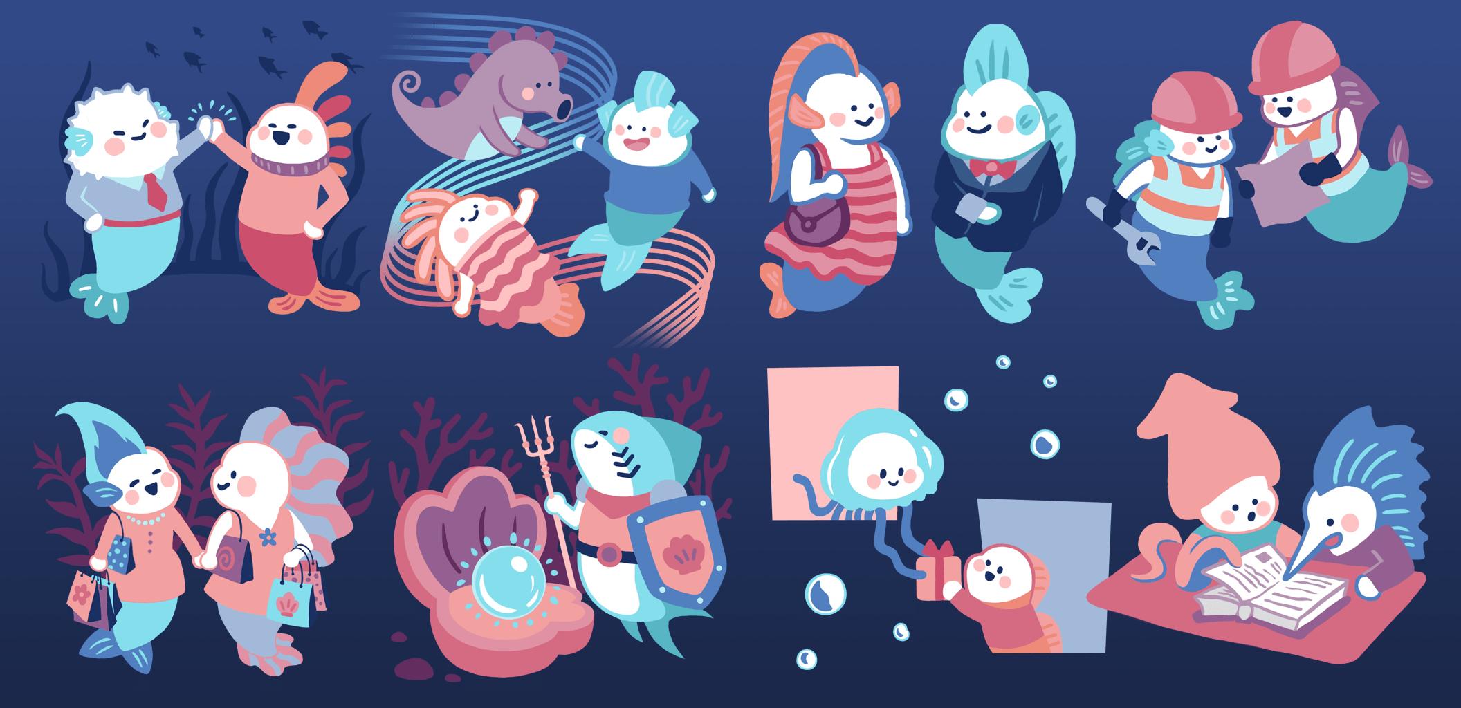 Sea Creatures Characters